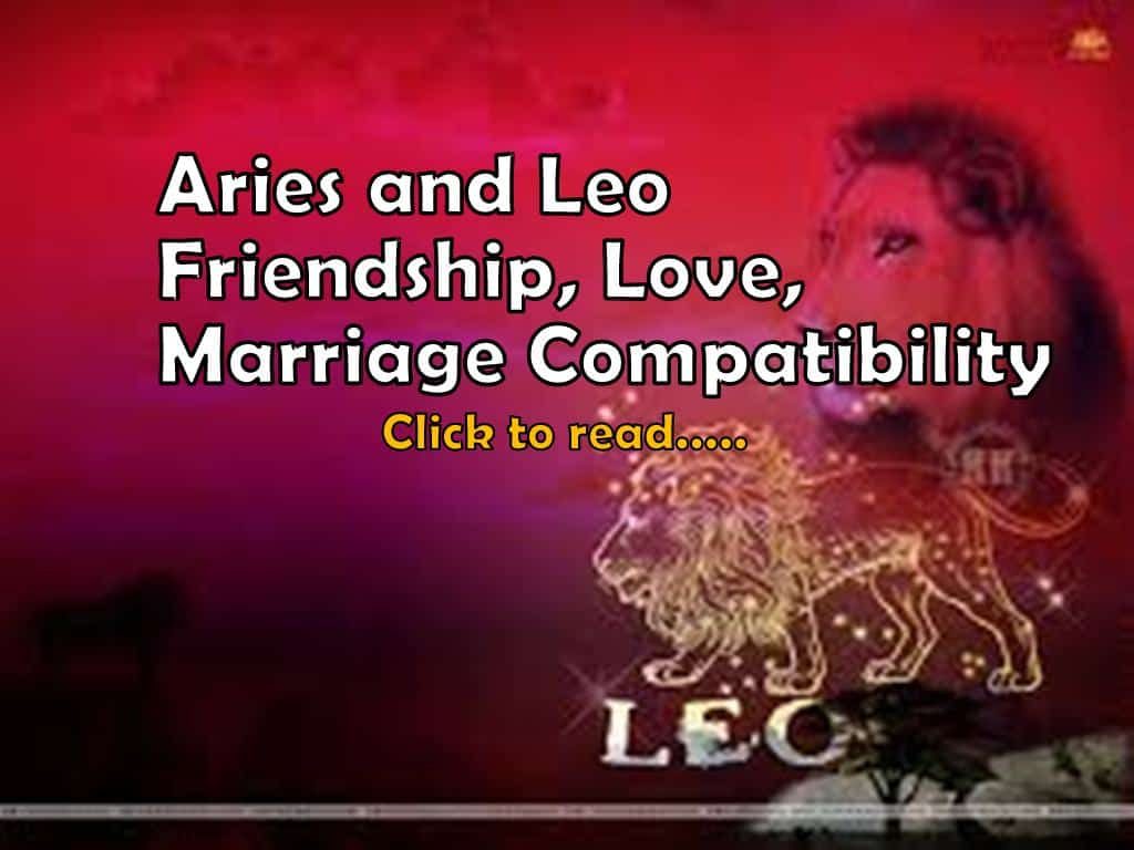 Aries and leo compatibility for marriage