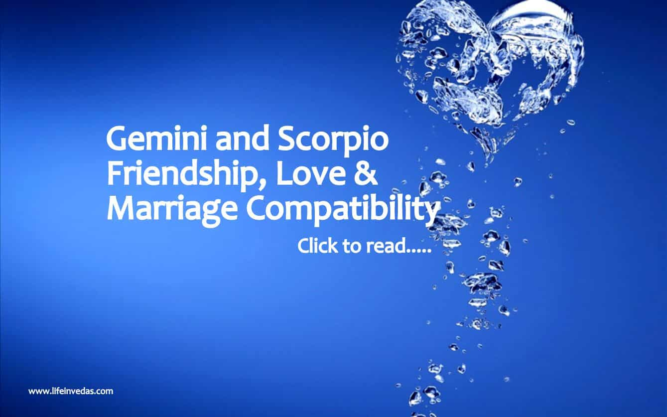 Compatibility of gemini man and scorpio woman something is