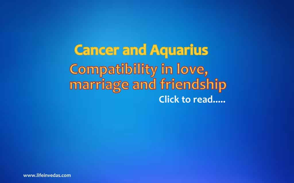 Cancer and Aquarius Man Woman Compatibility for Marriage